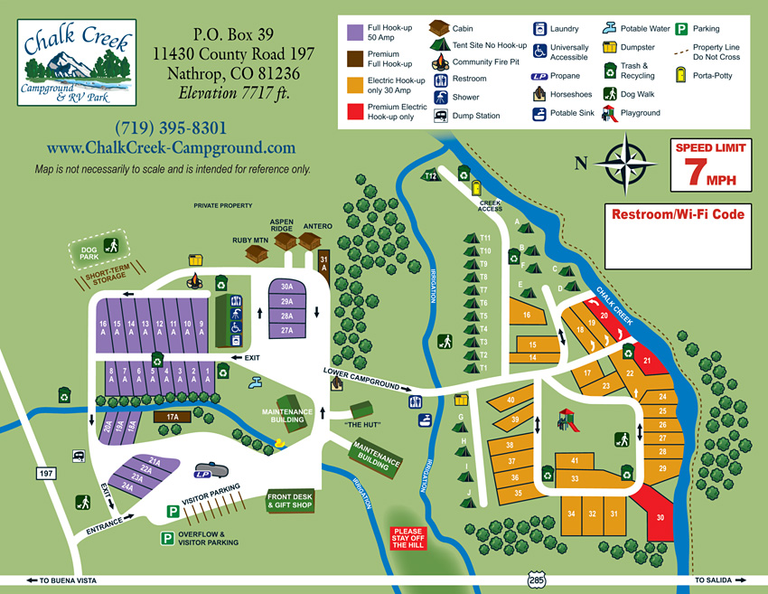 2018 Campground Map